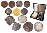 Promotional set of 12 coins, as follows: 1 Dutch gold ducat (Utrecht mint, 1724), 2 Dutch silver