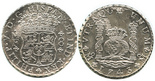 Mexico, pillar 8 reales, Philip V, 1743MF.