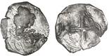 Mexico City, Mexico, cob 8 reales, Philip IV, assayer not visible (P).