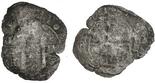 Potosi, Bolivia, cob 8 reales, Philip IV, assayer not visible (pillars and waves).