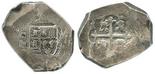Mexico City, Mexico, cob 8 reales, (17)29R.