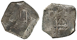 Potosi, Bolivia, cob 8 reales, Charles II, assayer VR (1684-97), date not visible.
