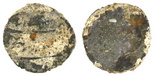 Surat, India (Mughal Empire), 1 rupee, Aurangzeb (1658-1707), AH1113 (1702). Heavily encrusted in attractive tan color with some details peeking through.