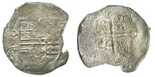 Mexico, cob 8 reales, Philip III, assayer not visible (F).