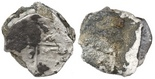 Clump of 3 silver cobs, partially encrusted. Stack of three thin 8 reales (probably all Mexico but without enough details to confirm), one with cross exposed and the other outer coin cocooned in dark encrustation, silvery everywhere else.