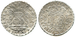 Hollandia, sunk in 1743 off the Isles of Scilly, southwest of England Mexico City, Mexico, pillar 8 reales, Philip V, 1740MF.