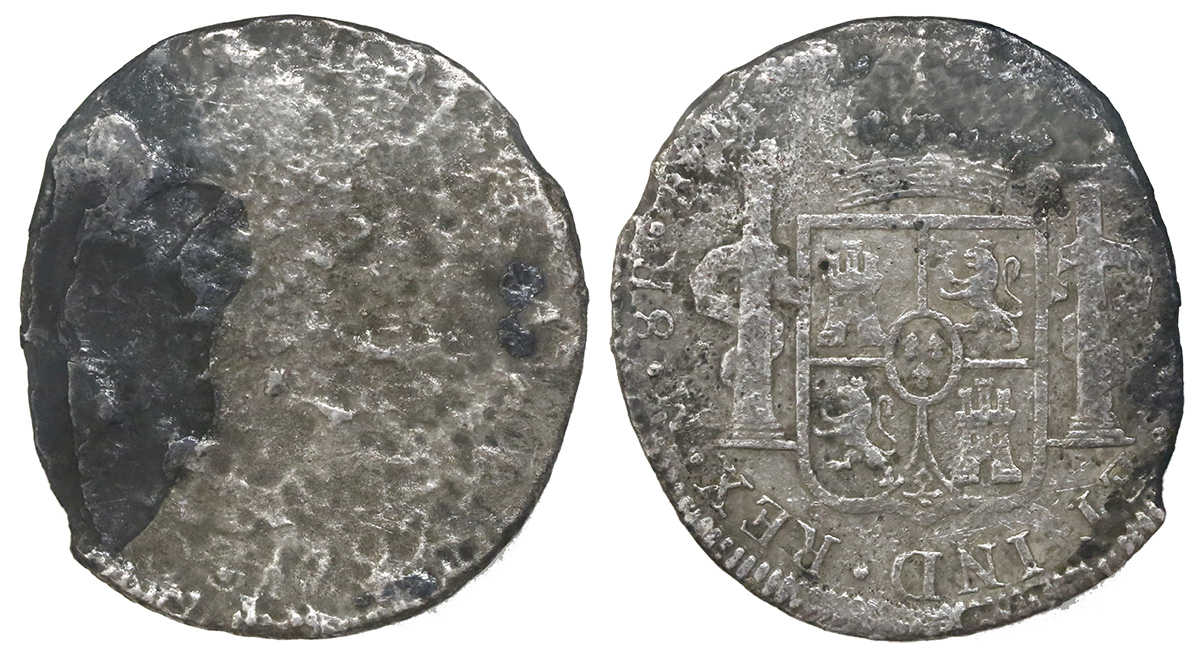 British East India Co., copper X cash, 1808.