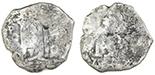 Potosi, Bolivia, cob 8 reales, 1672(E).