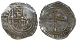Mexico, cob 2 reales, Charles II, assayer not visible.
