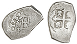 Mexico City, Mexico, cob 2 reales, Charles II, assayer not visible.