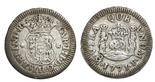 Mexico City, Mexico, pillar 1 real, Philip V, 1746M, encapsulated NGC XF 40.