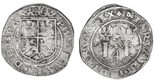 Lima, Peru, 4 reales, Philip II, assayer R (Rincon) to left, variety with small R, motto PL-VSV-TR, legends HISPA / NIARVM.