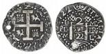 Lima, Peru, cob 2 reales Royal, 1722M, rare (unlisted)..