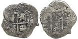 Potosi, Bolivia, cob 1 real, 1697F, rare.