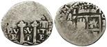 Potosi, Bolivia, cob 1 real, (1652)E Transitional, McLean Type II.