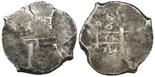 Potosi, Bolivia, cob 8 reales, 1712Y.