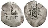 Potosi, Bolivia, cob 2 reales, 1661E.