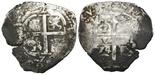 Potosi, Bolivia, cob 2 reales, 1674E.