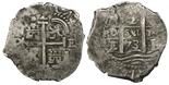 Potosi, Bolivia, cob 2 reales, 1673E.