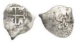 Potosi, Bolivia, cob 1/2 real, 1744.