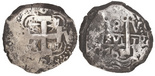 Potosi, Bolivia, cob 8 reales, 1761V-Y-V.