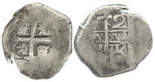 Potosi, Bolivia, cob 2 reales, 1717Y.