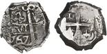 Potosi, Bolivia, cob 4 reales, 1767V-(Y).