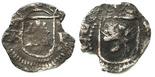 Potosi, Bolivia, cob 1/4 real, Philip II, assayer B  (1st period) to left, mintmark P to right, very rare.