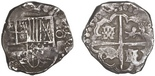 Potosi, Bolivia, cob 4 reales, (162)9(T), rare.