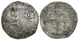 Potosi, Bolivia, cob 4 reales, Philip II, assayer B (2nd period),