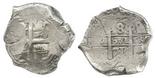Potosi, Bolivia, cob 8 reales, 1715Y.