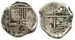 Potosi, Bolivia, cob 4 reales, Philip IV, assayer TR (ca. 1640).