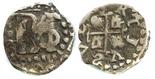 Potosi, Bolivia, cob 1/2 real, Philip IV, no assayer, nonsense lettering in legend.