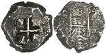 Potosi, Bolivia, cob 8 reales, 1745q.