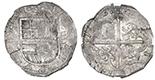 Seville, Spain, cob 4 reales, 1614V, NGC AU 58.
