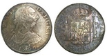 Mexico City, Mexico, bust 8 reales, Charles IV transitional (bust of Charles III, ordinal IV), 1790FM.
