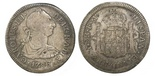 Mexico City, Mexico, bust 2 reales, Charles III, 1786FM.