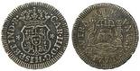 Mexico City, Mexico, pillar 1/2 real, Charles III, 1771F.