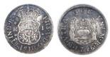 Mexico City, Mexico, pillar 1 real, Philip V, 1746M, encapsulated NGC XF 40.