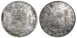 Mexico City, Mexico, pillar 8 reales, Charles III, 1767MF, with chopmarks as from circulation in Asia.