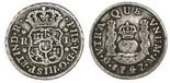 Mexico City, Mexico, pillar 1 real, Philip V, 1747M.
