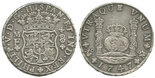 Mexico City, Mexico, pillar 8 reales, Philip V (posthumous), 1747MF.