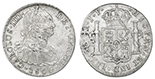 Lima, Peru, bust 8 reales, Charles IV, 1800IJ.