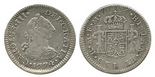 Mexico City, Mexico, bust 1/2 real, Charles III, 1774FM.