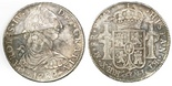 Mexico City, Mexico, bust 8 reales, Charles IV transitional (bust of Charles III, ordinal IV), 1789FM.