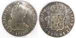 Potosi, Bolivia, bust 8 reales, Charles III, 1789PR.