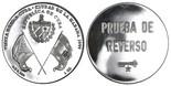 Havana, Cuba, silver 1-ounce medal, 1999, Spanish royal visit.