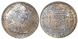 Mexico City, Mexico, bust 8 reales, Charles IV transitional (bust of Charles III, ordinal IIII), 1790FM.
