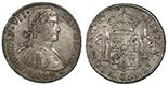 Lima, Peru, bust 8 reales, Charles IV, 1808JP, ANACS AU 55.