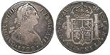 Madrid, Spain, bust 4 reales, Charles IV, 1792MF.